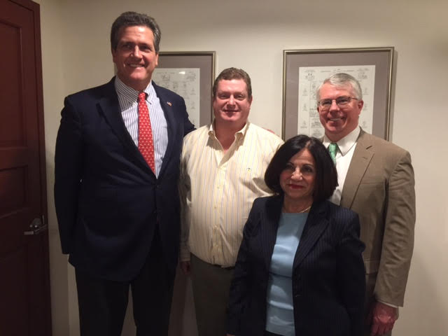 U.S. Senate candidate August Wolf (left) attended the March Weston RTC meeting, along with Bob Ferguson-RTC Chair, State Senator Toni Boucher and Adam Dunsby, candidate for CT State Representative - District 135.